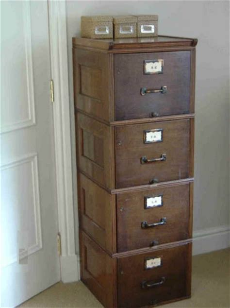 4 Drawer Wooden Filing Cabinet Vintage Home Interiors Antique Wood File Cabinets