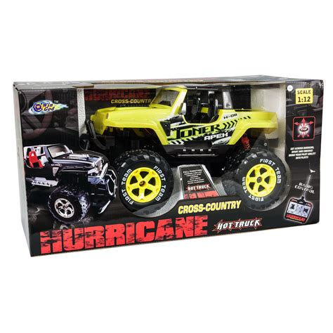 light yellow jeep 1 12 yellow hurricane jeep with lights rc jeep at hobby