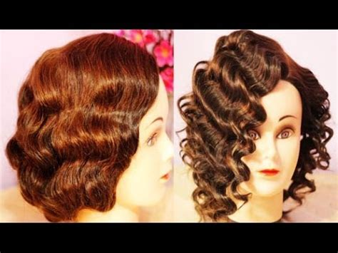 rods and finger wave hair styles no heat curls waves retro flapper finger waves for short