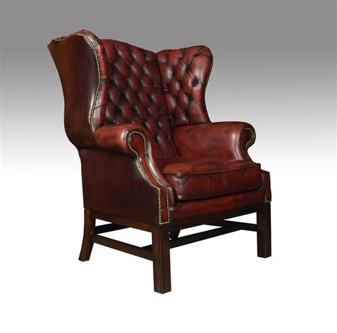 antique wingback chairs antiques atlas leather upholstered wingback armchair