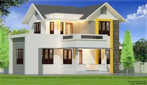 double floor modern style home design 2015 1680 sq ft modern double floor kerala home design home