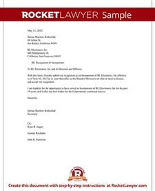Llc Resignation Letter resignation of incorporator letter template with sle