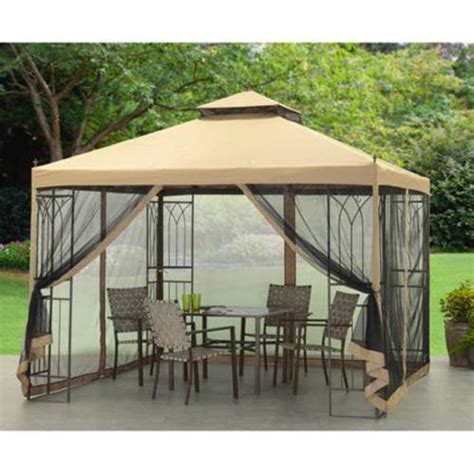 outdoor fabric canopy 10 x10 outdoor metal gazebo fabric canopy with mosquito net backyard shade what s it worth
