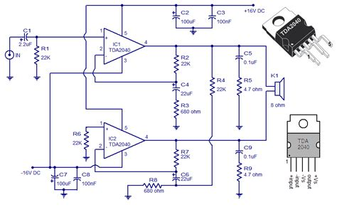 what is a network integrated circuit wiring schematic diagram 30 watt audio lifier using tda 2040