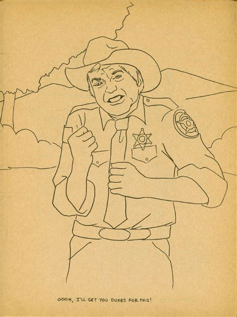 dukes of hazzard free coloring pages