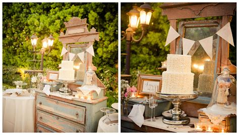 Vintage Style Wedding Decoration Ideas by A Country Vintage Style Wedding Rustic Wedding Chic