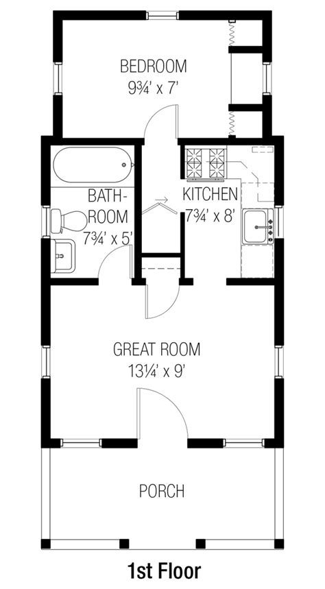 1 floor is 10 ft bungalow style house plan 1 beds 1 00 baths 356 sq ft