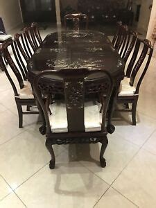 dining room antique hand carved rosewood chinese set ebay