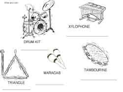 percussion family coloring page free coloring pages