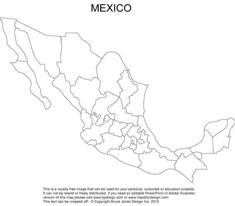 mexico blank printable map royalty clip art cc
