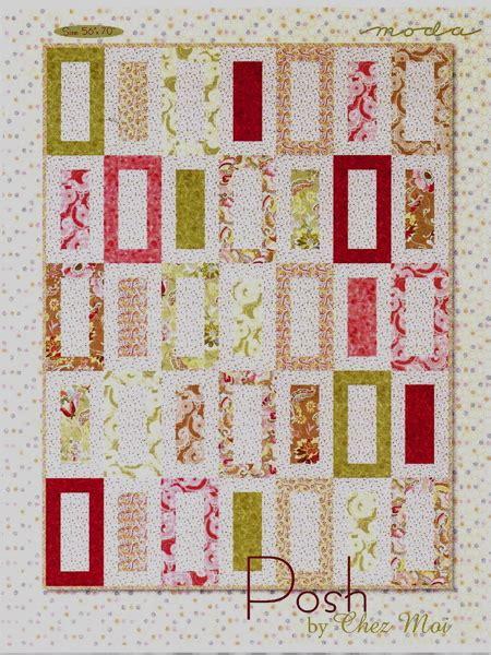 posh  moda fabrics beginner quilt pattern
