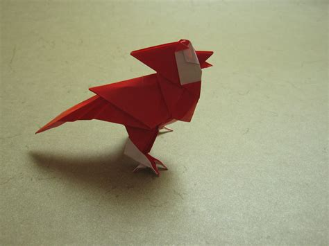 Origami Cardinal - singing cardinal rom 225 n d 237 az happy folding