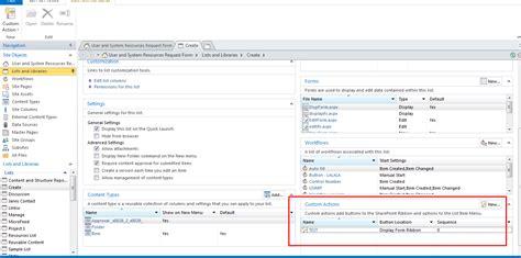 c form design not showing sharepoint designer custom actions display form ribbon