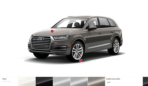 audi colors 2017 audi q7 visualizer colors cabins pricing and