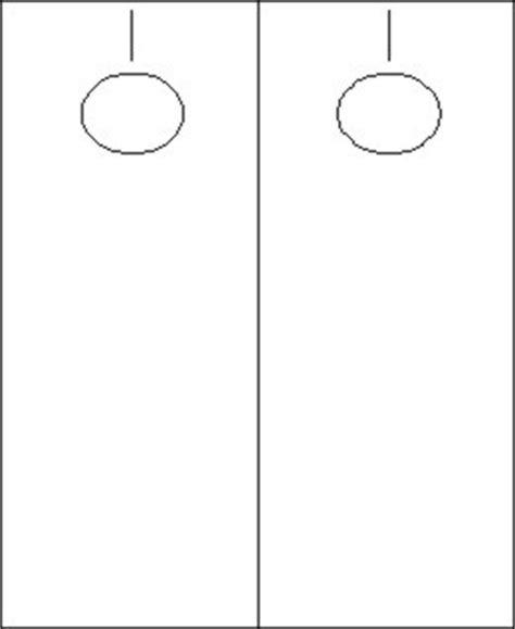 blank door hangers 2 up white desktopsupplies