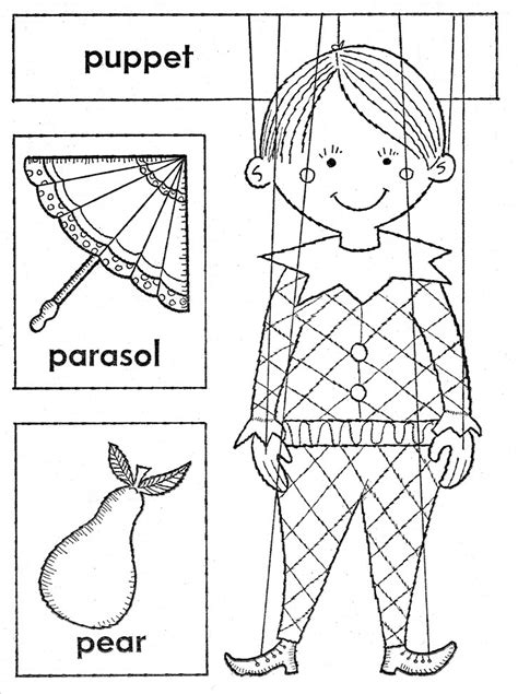 Free Coloring Pages Of Hand Puppet Puppet Coloring Pages