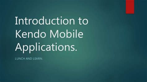 kendo mobile introduction to kendo mobile applications