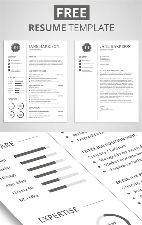 minimalistic cvresume templates cover letter