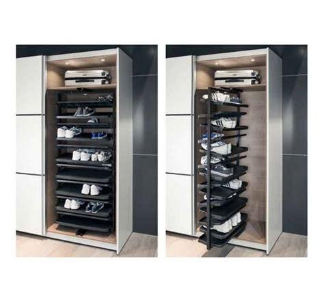 portapantaloni da armadio portascarpe estraibile per armadio per max 50 paia di