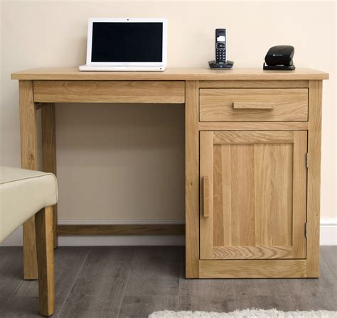 Arden Solid Oak Furniture Small Computer Desk Small Oak Computer Desk
