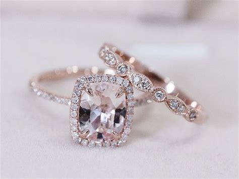 deco vs 7x9mm pink morganite wedding set w by