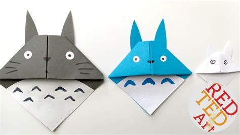 Simple Origami Bookmark - easy totoro bookmark origami paper crafts pinteres