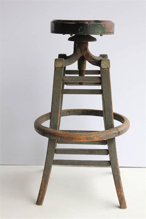 Drafters Stool by Antique Drafting Stool At 1stdibs