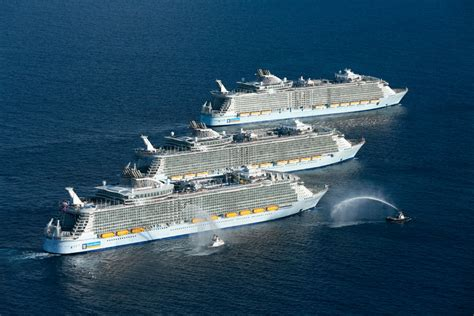 largest cruise ship history is made as 3 of the world s largest cruise ships