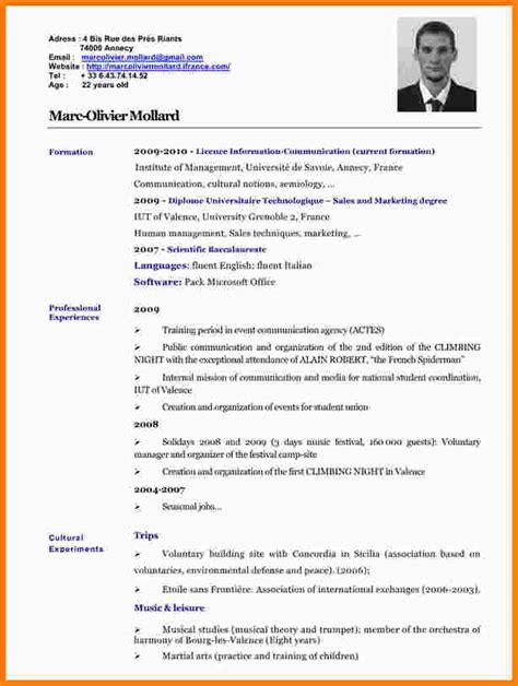 Definition Resume En Anglais 10 Cv En Anglais Exemple Lettre