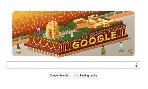 doodle for india 2015 marks india s 66th republic day with a vibrant