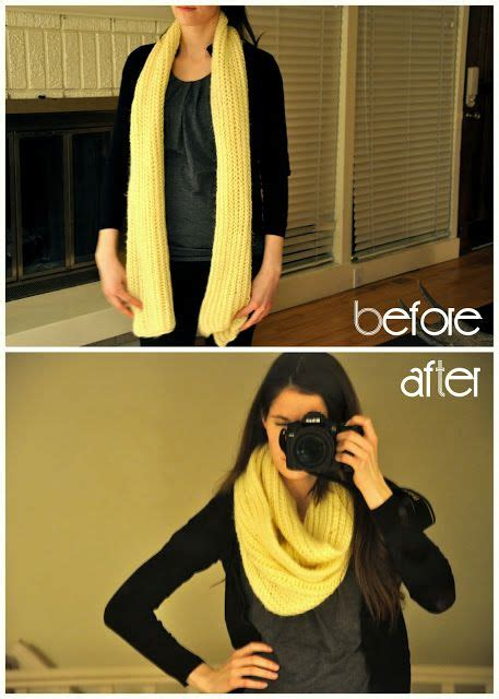 how to make a scarf into an infinity scarf 25 best ideas about chunky infinity scarves on