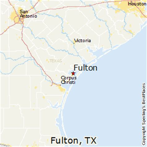 fulton texas map best places to live in fulton texas