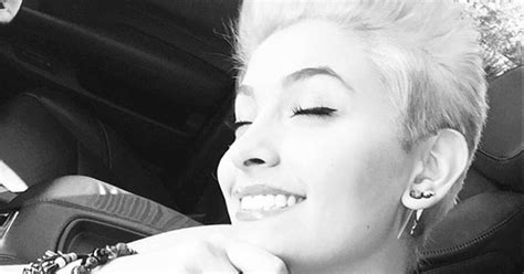paris jackson cutting scars paris jackson debuts platinum blonde pixie cut us weekly