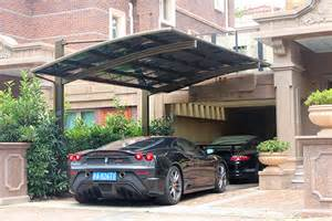 Single Car Ports Premium Luxury Aluminum Alloy Metal Carport Kit Single