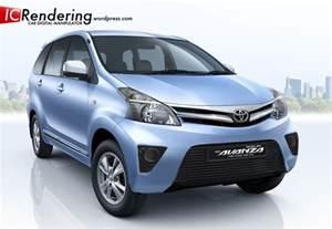 Toyota Indonesia Toyota Avanza Facelift Indonesia Car Rendering