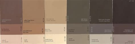shades of brown paint decorating
