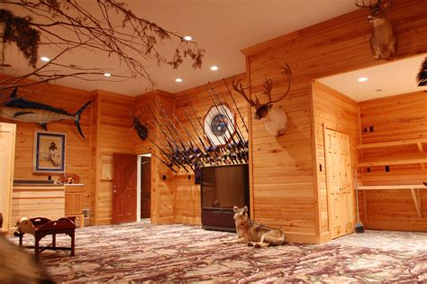 Man cave fishing room ideas
