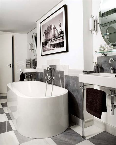 black and white bathroom tile design ideas 30 great pictures and ideas art nouveau bathroom tiles