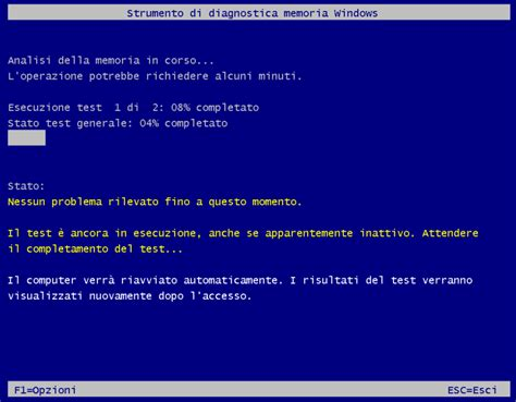 test per la memoria testare la memoria ram pc da windows ilsoftware it
