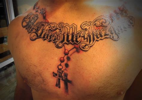 chest cross tattoo cross tattoos on chest www pixshark images