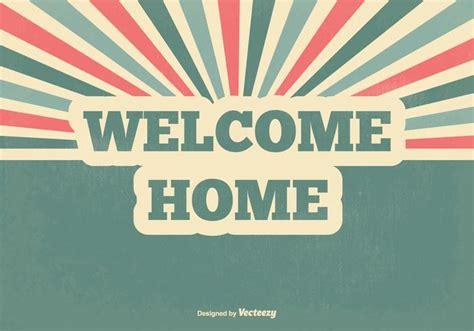 retro  home vector illustration