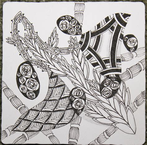 zentangle pattern avreal the bright owl happy new year and some alphabet soup