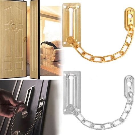 Cabinet Door Chain Aliexpress Buy Chrome Chain Door Safety Guard Latch Security Peep Bolt Locks Cabinet