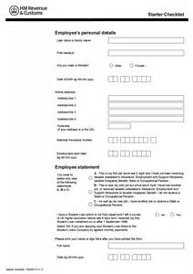 Employee Starter Form Template by Blank Starter Form Calendar Template 2016