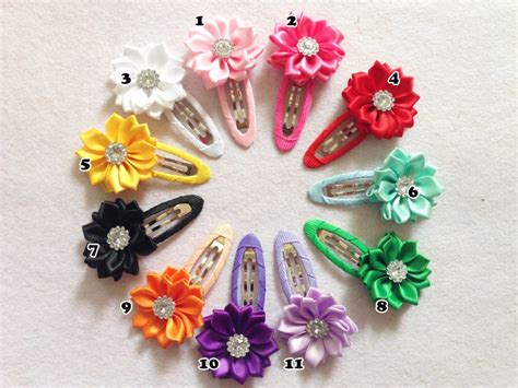 Hair Clip Anak Perempuan Monic Pink 3 handmade gadis hairclip band hairgrips satin bunga