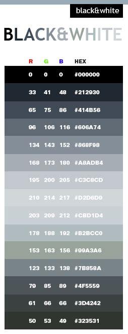 html black color black white color schemes color combinations color