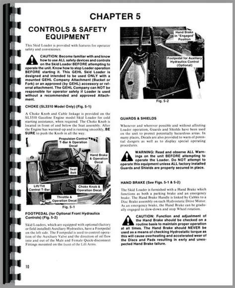 Gehl Sl3310 Skid Steer Loader Operators Manual