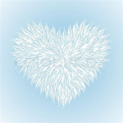 Fluffy White Heart On Light Blue Background Stock Photo White Fluffy Lights