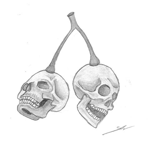 cherry skull tattoo designs cherry design 2 by nightmare666maiden on deviantart