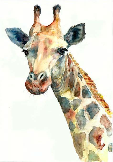 painting of zoo animals giraffe watercolor giraffe poster animals